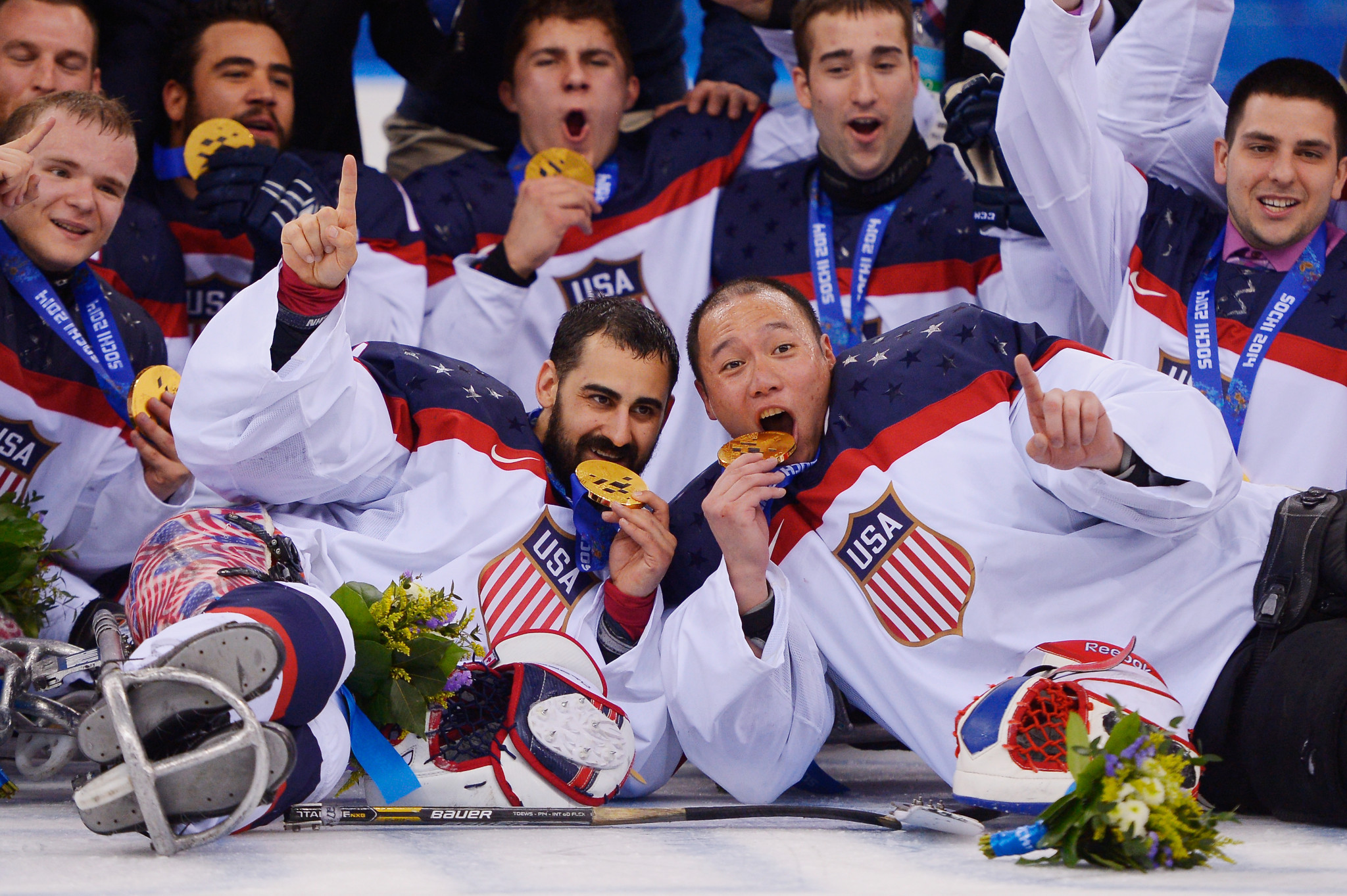 The United States wins three straight golds at the Paralympic Games at Ice Hockey Para © Getty Images