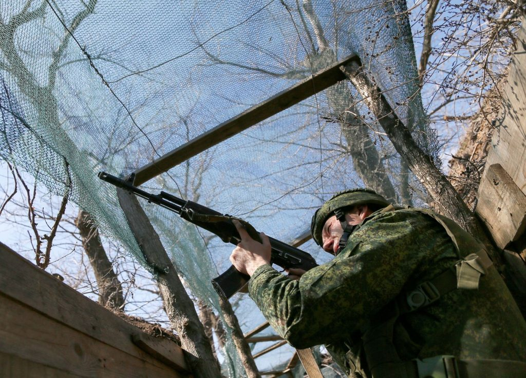The shooting at the Donbas does not stop.  Another soldier was wounded by shrapnel, according to Kiev