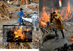 In India, the dead are burned on the streets.