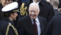 Jimmy Carter, 39th President of the United States, at Trump's inauguration.