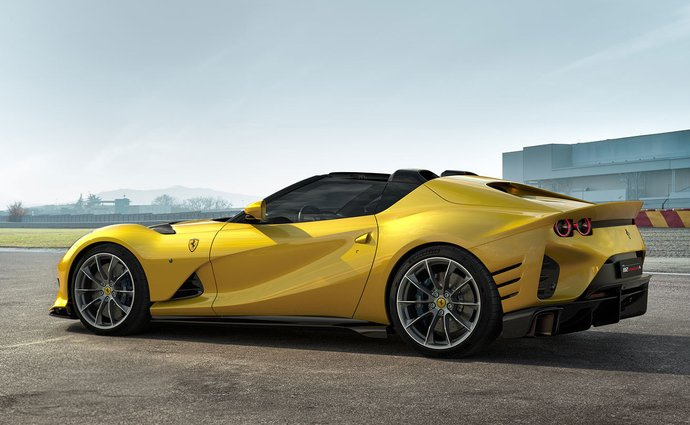 Here's the Ferrari 812 Competition. With a V12, 830 hp and you can get it in the shape of a Targo