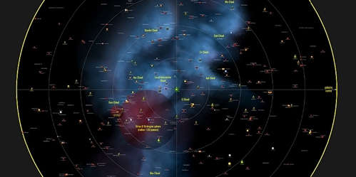 540 ... Scientists have summarized the stars, brown dwarves, and planets around us