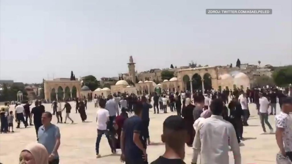 A truce in danger?  The Temple Mount reports clashes between Palestinians and police