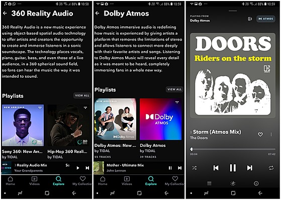 Tidal - 360 Reality Audio with Dolby Atmos