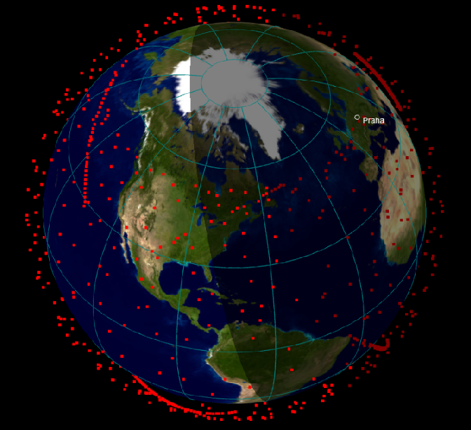 Clear skies are being watched by Starlink satellites for Internet monitoring from SpaceX