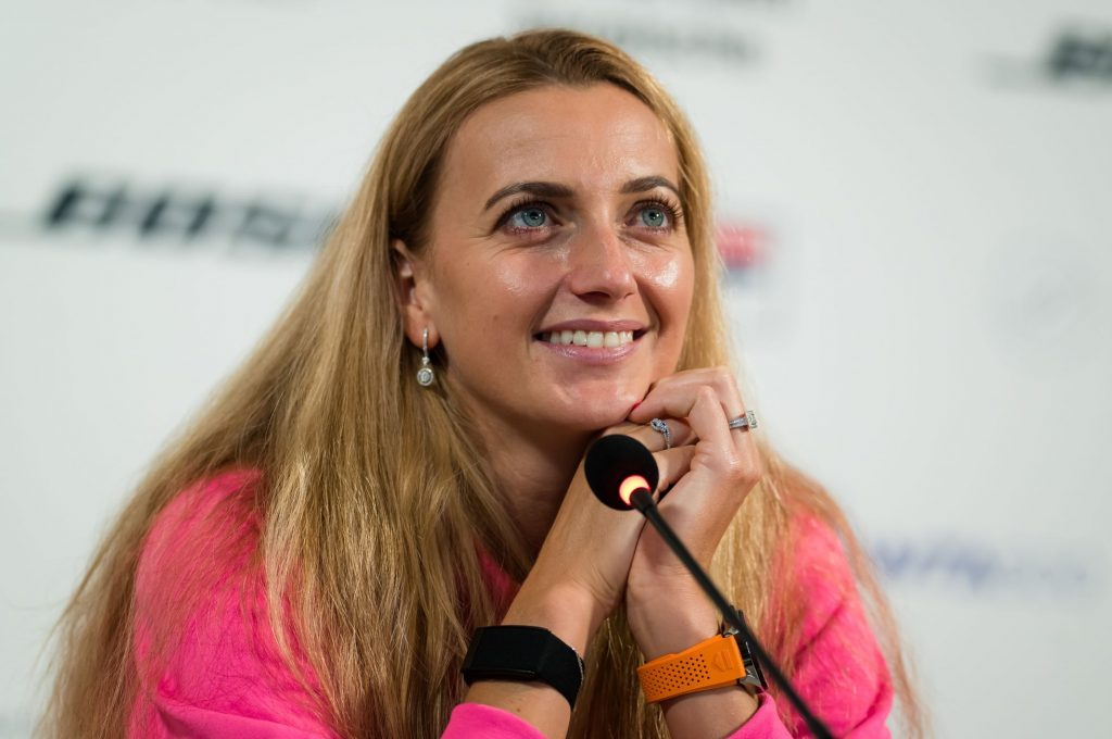 `` I'm sorry about the tennis change, '' says Kvitova.  However, she continues to enjoy it and does not intend to end it