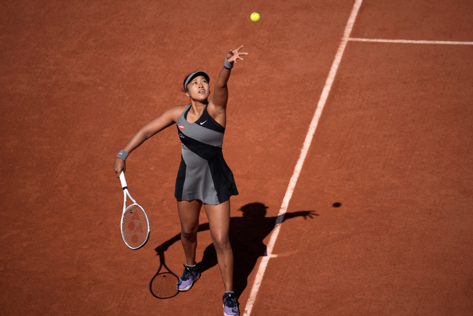Osaka won and was fined.  Farewell to Paris with the Theme - T Sport - Czech TV