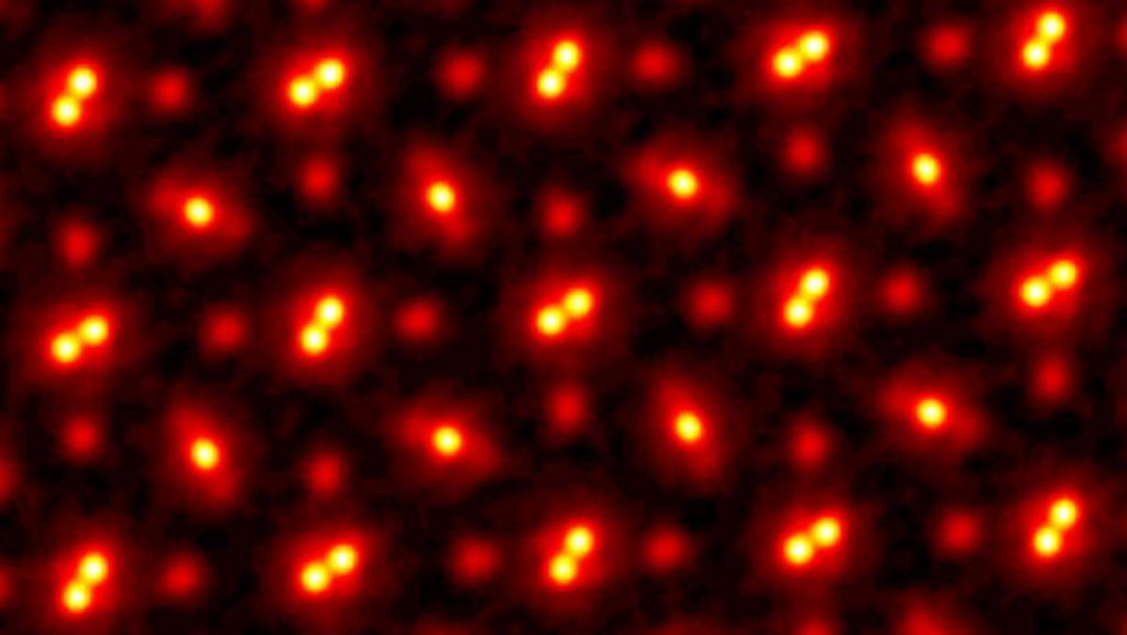 Scientists see atoms with standard accuracy