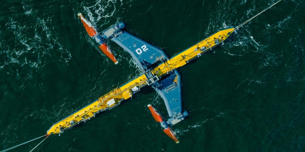 The Scots launched the most powerful tidal turbine in the world.  Reminiscent of a ship from Star Wars - VTM.cz