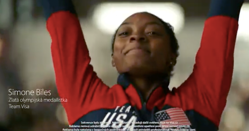 Visa launched a campaign with Simone Biles and Marcin Dzieński