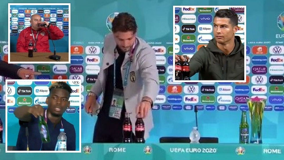 The Italian national team star repeats the incident of Ronaldo and Pogba.. and