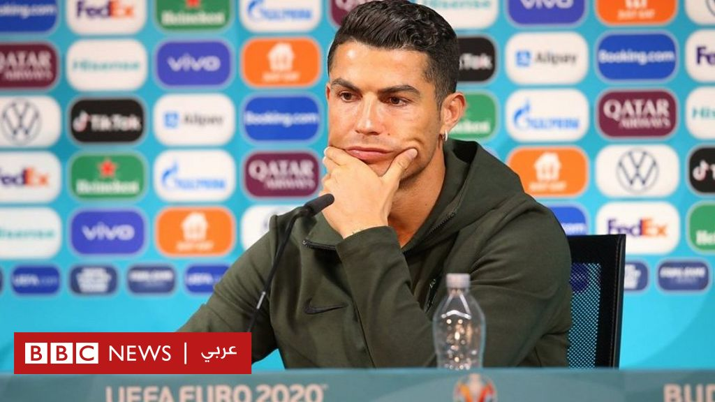 Euro 2020: Warning of fines for teams whose players keep drinks away during a press conference