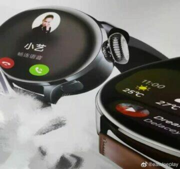Leaked images of the Huawei Watch 3 design