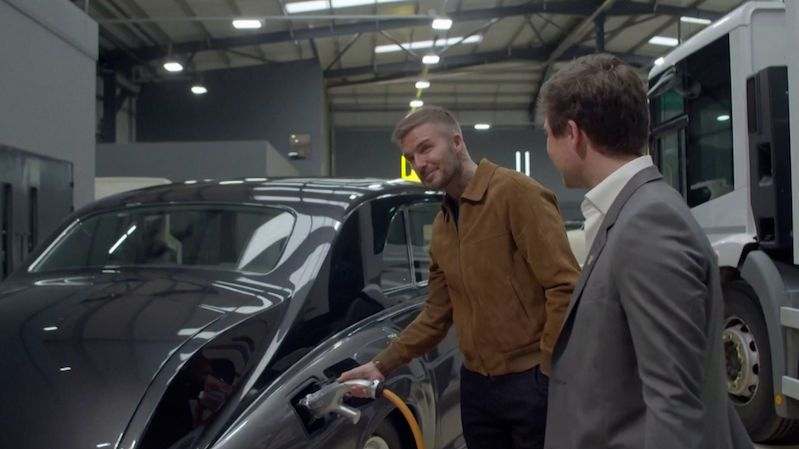 David Beckham invests in a company that makes electric cars from veterans
