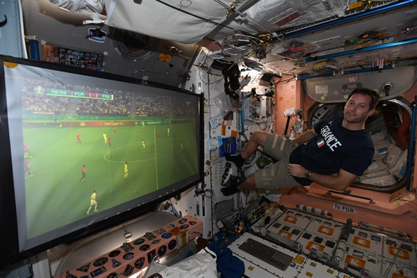 """""""Euro 2020"""" penetrates space with pioneer Pesquet"""