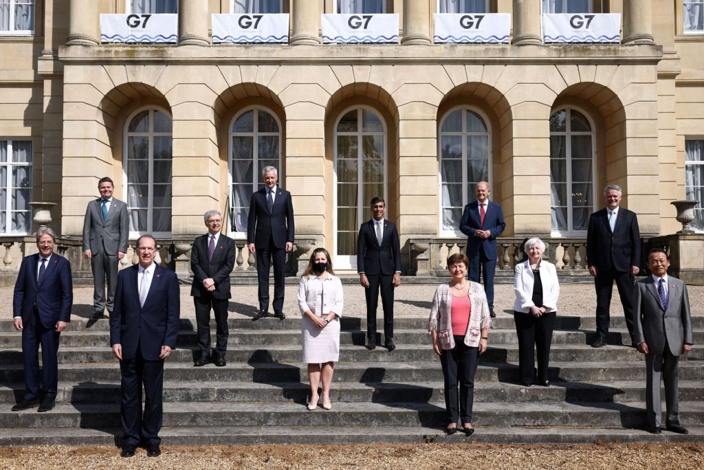 The G7 countries have agreed to tax global corporate profits at at least 15%