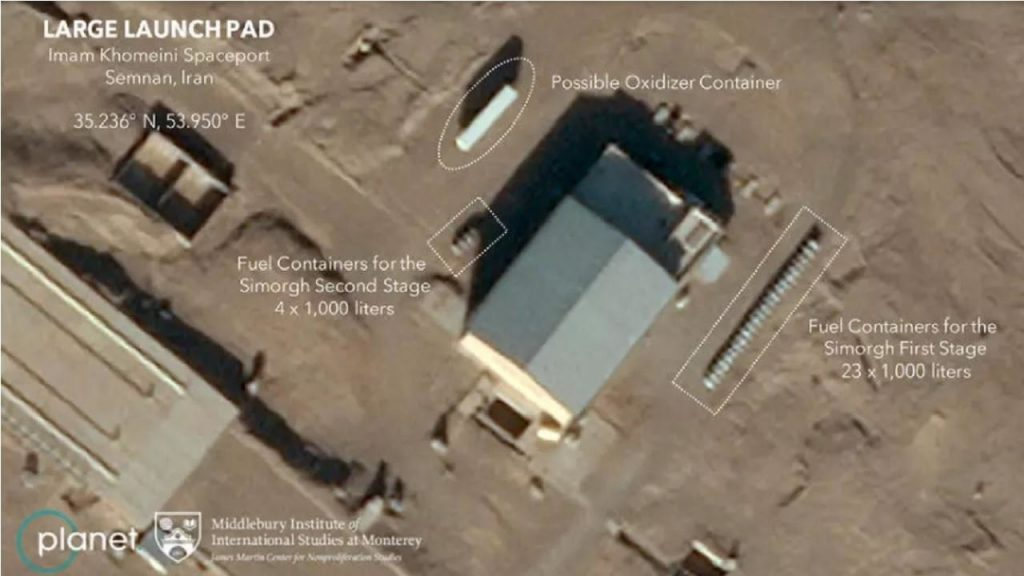 The Pentagon announces that Iran has failed to launch a satellite into Earth's orbit