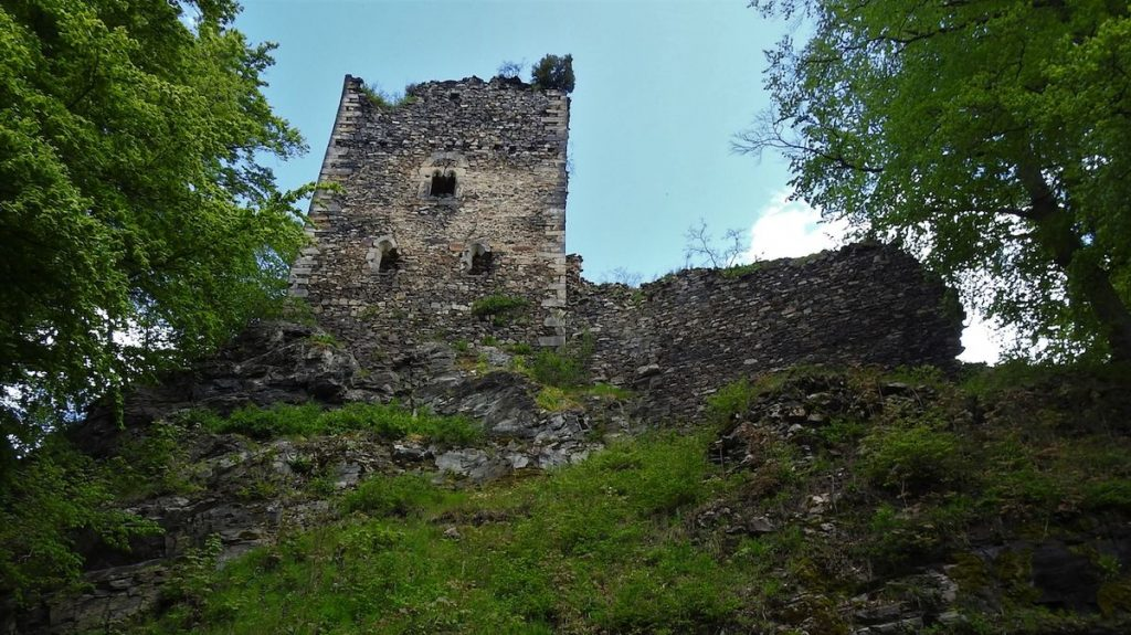 The ruins of Usyk Castle are one of the largest in Central Europe