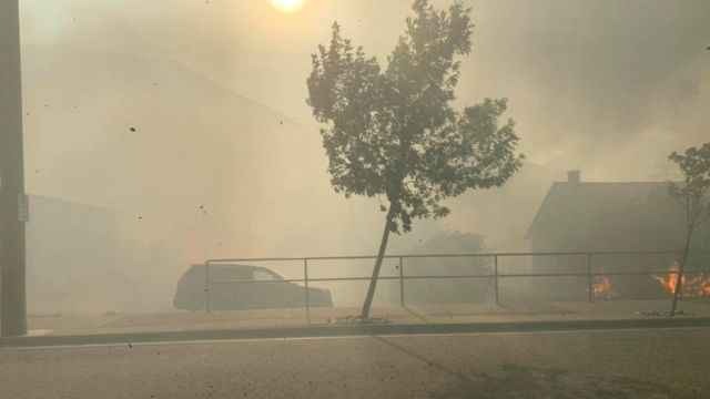 Fires in the Canadian village of Lytton on Wednesday