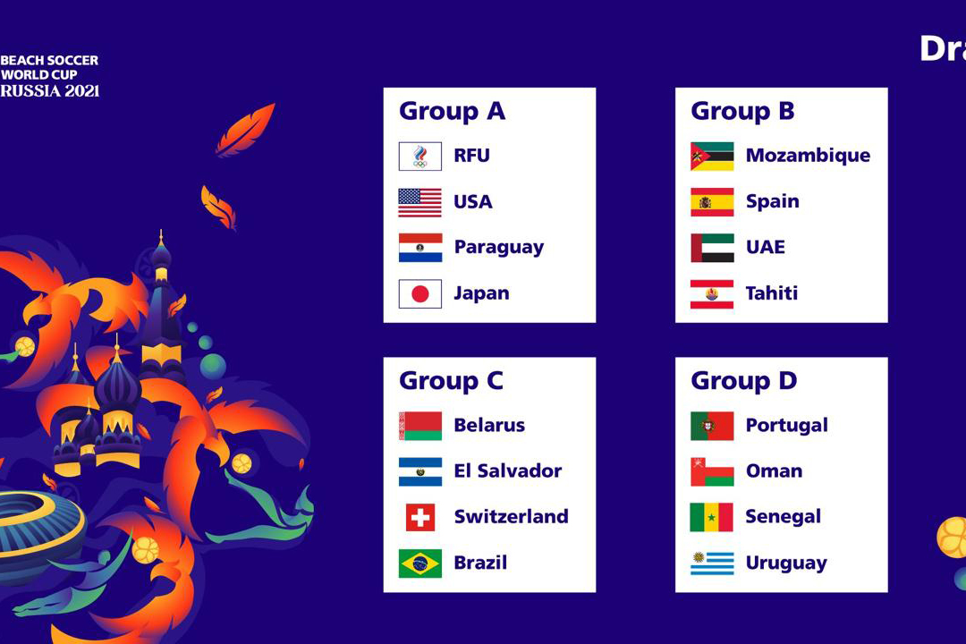Our national team is in Group B of the FIFA Beach Soccer World Cup in Russia
