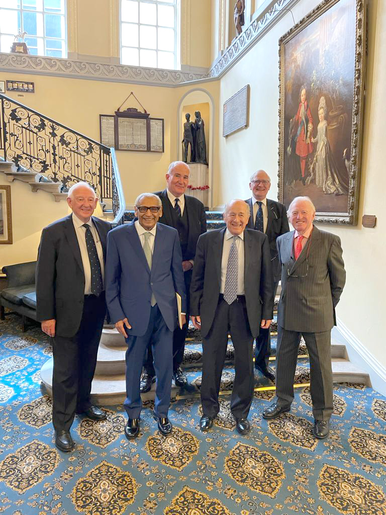 Dean of the Diplomatic Forces, Kuwaiti Ambassador to the United Kingdom Khalid Abdul Aziz Al-Duwaisan with members of the Association