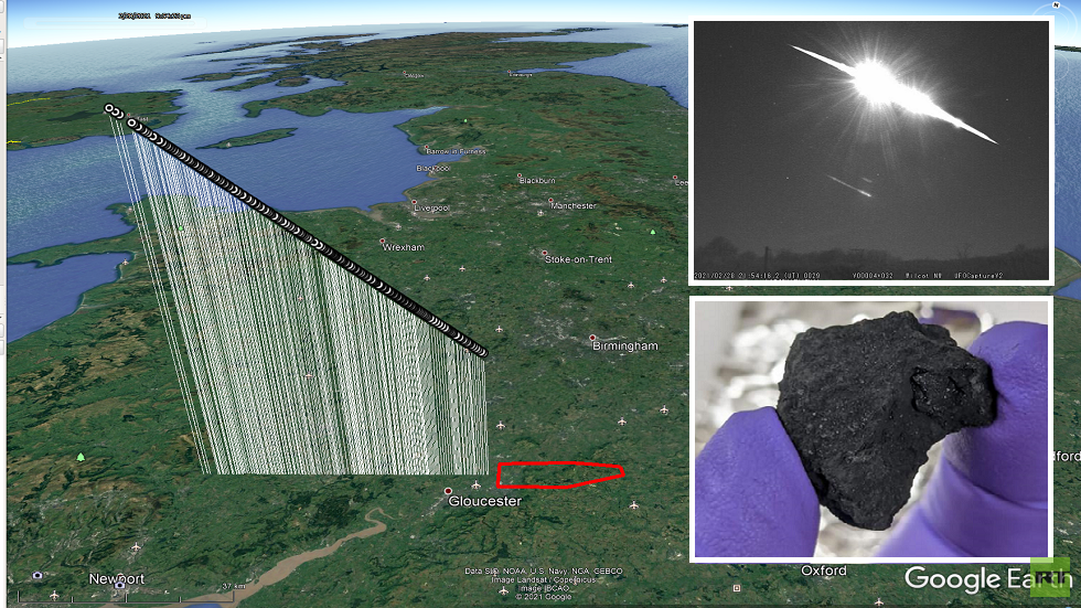 There may be a rare meteorite fall in Britain