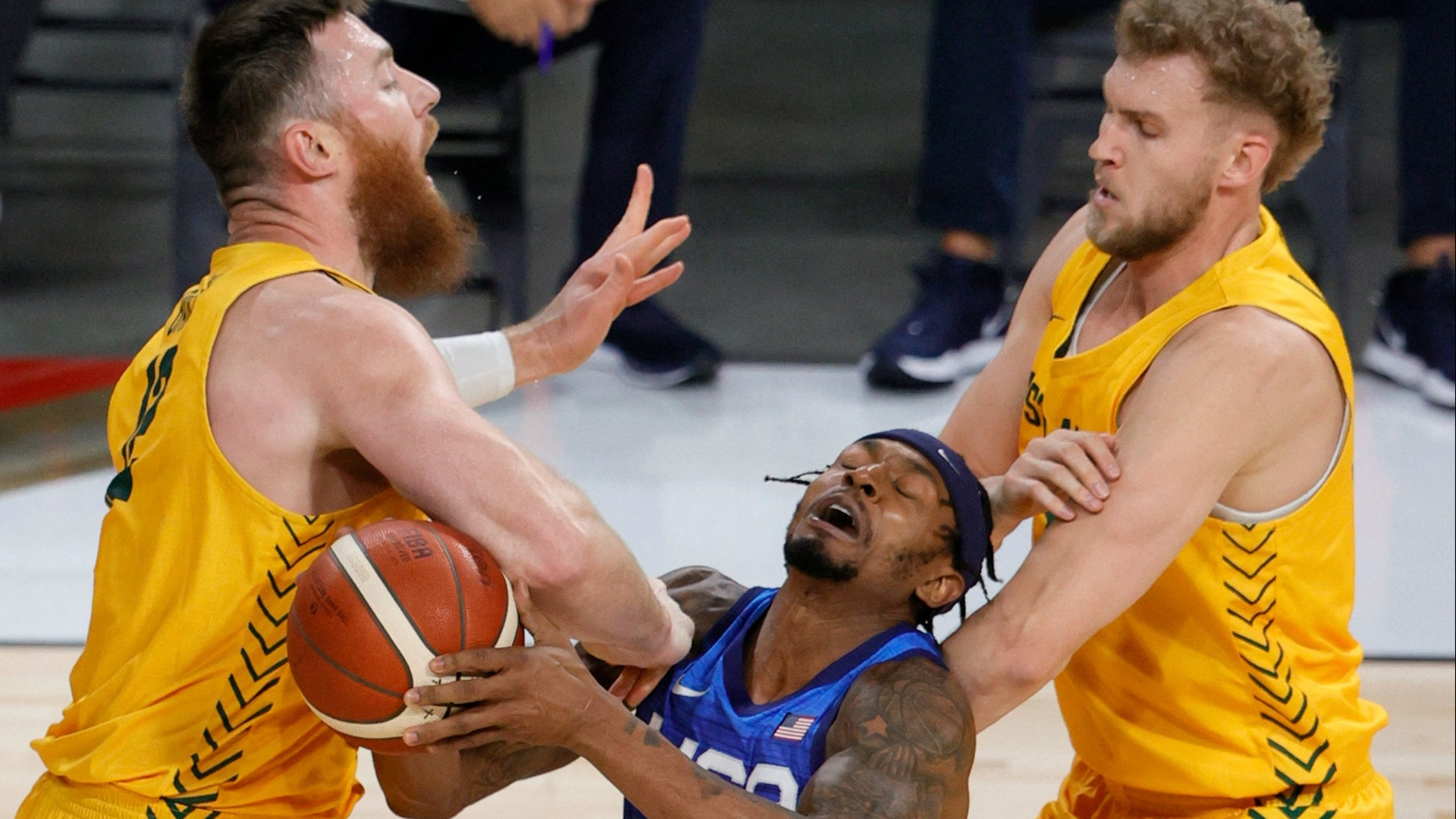 The US basketball team stumbles again before the Tokyo Olympics (video)