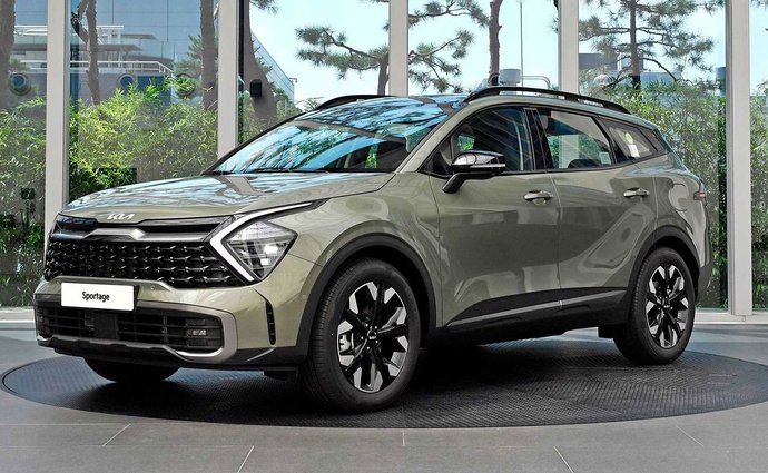 The new Kia Sportage in the big showroom: it also shows what other automakers are hiding