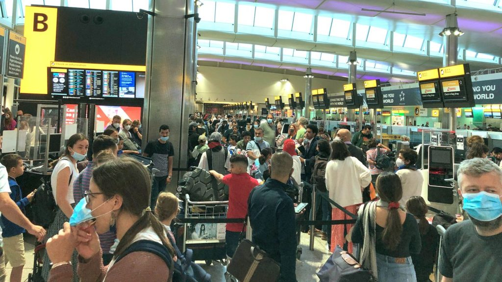 Government-19: 'Total chaos' at UK airports over this year's hectic weekend - with government checks and staff shortages