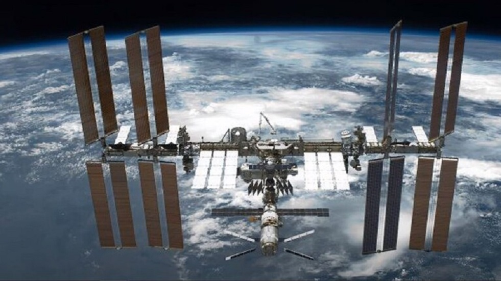 The pressure drops sharply in the Russian module on the International Space Station