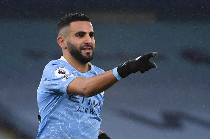 Riyad Mahrez receives a stab in the back from Manchester City