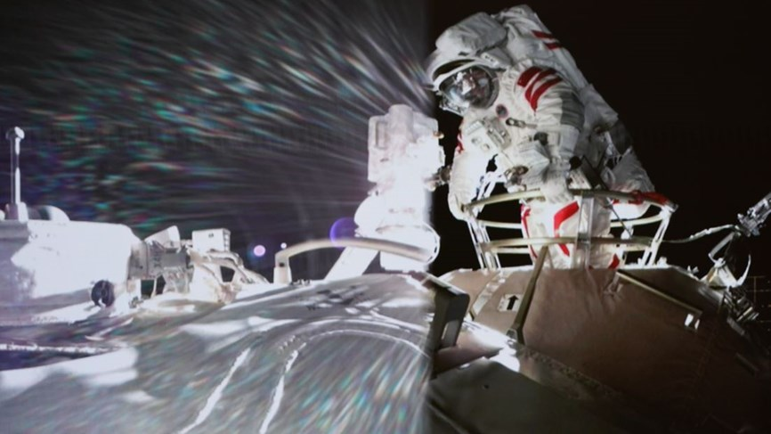 Video: Two astronauts from China's new space station perform the first spacewalk