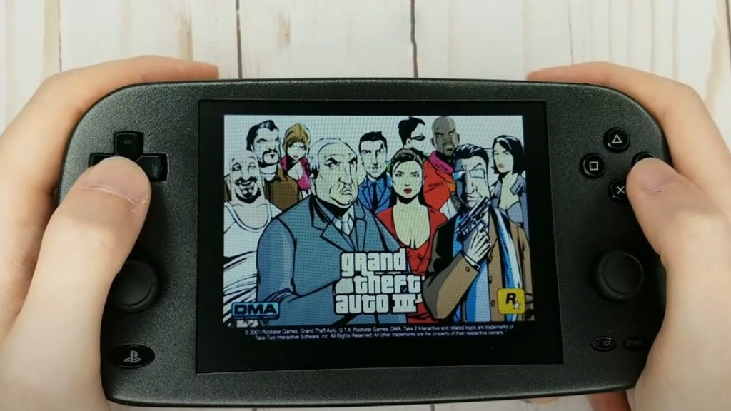 PS2 Portable looks great, plays Grand Theft Auto 3