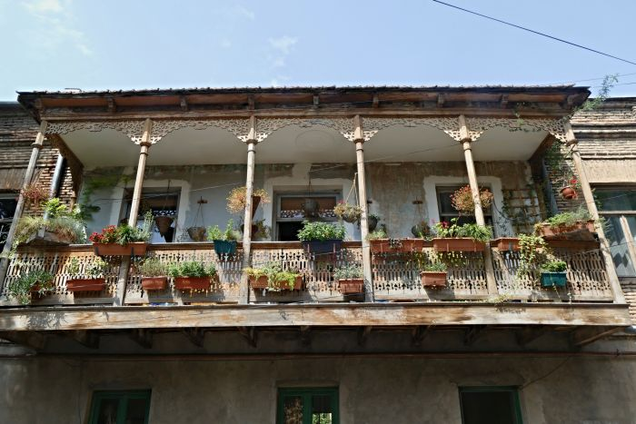 Typical old buildings in Tbilisi