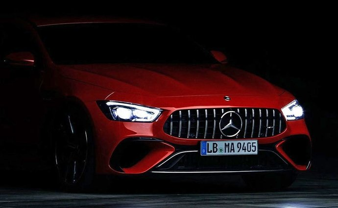 The unveiling of the Mercedes-AMG GT 73 e four-door coupe begins