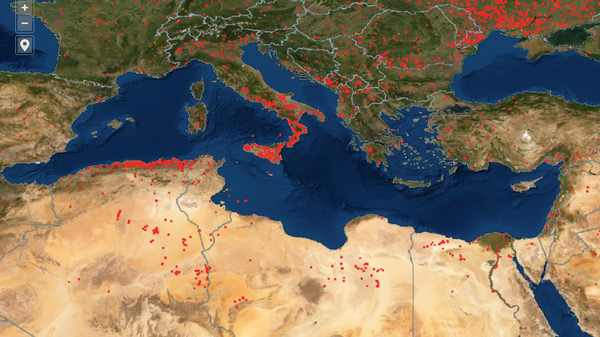 Fires surround the Mediterranean, and the heat wave exacerbates the fires