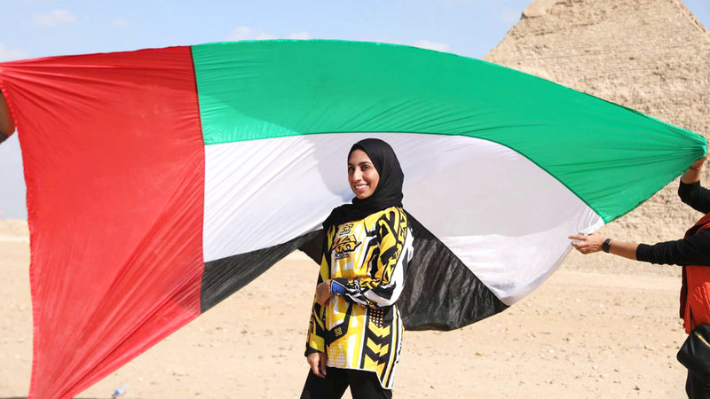 """Sheikha Ahmed: I plan to make a leap with the UAE flag to coincide with """"Expo 2020"""" - Sports - Local"""