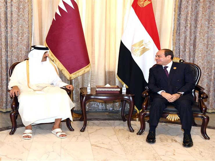We publish a video of President Sisi and the Emir of Qatar meeting on the sidelines of the Baghdad Summit