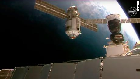 The International Space Station briefly loses control after a new Russian module fails
