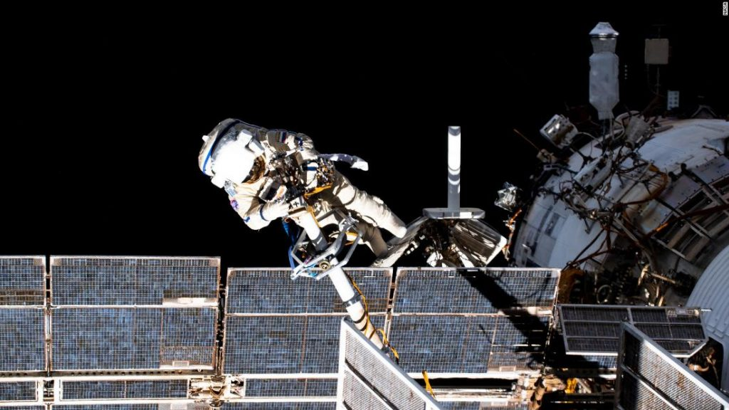 Russian cosmonauts begin the first 11 spacewalks of a new space station module