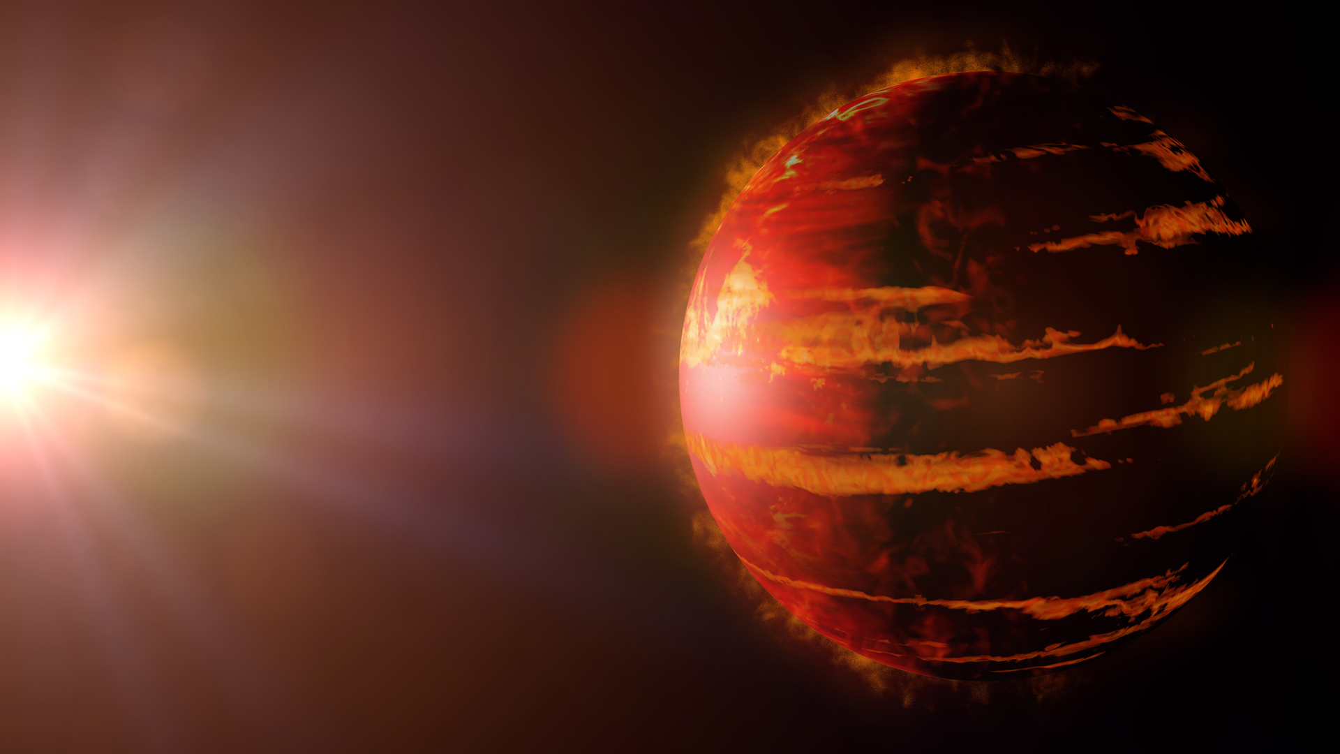 The discovery of a very hot exoplanet, several times the size of Jupiter