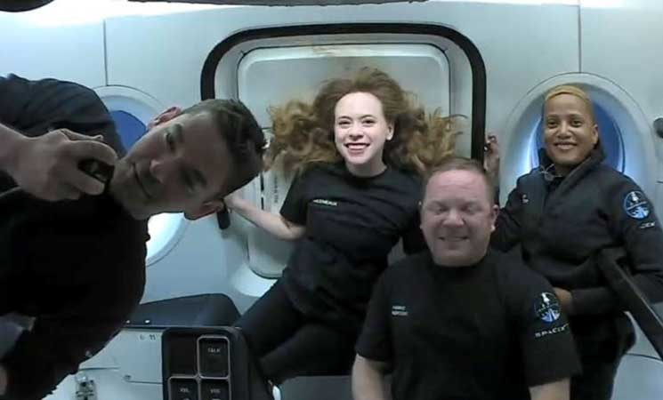 SpaceX's civilian space crew shows off some fun - (photos and video)