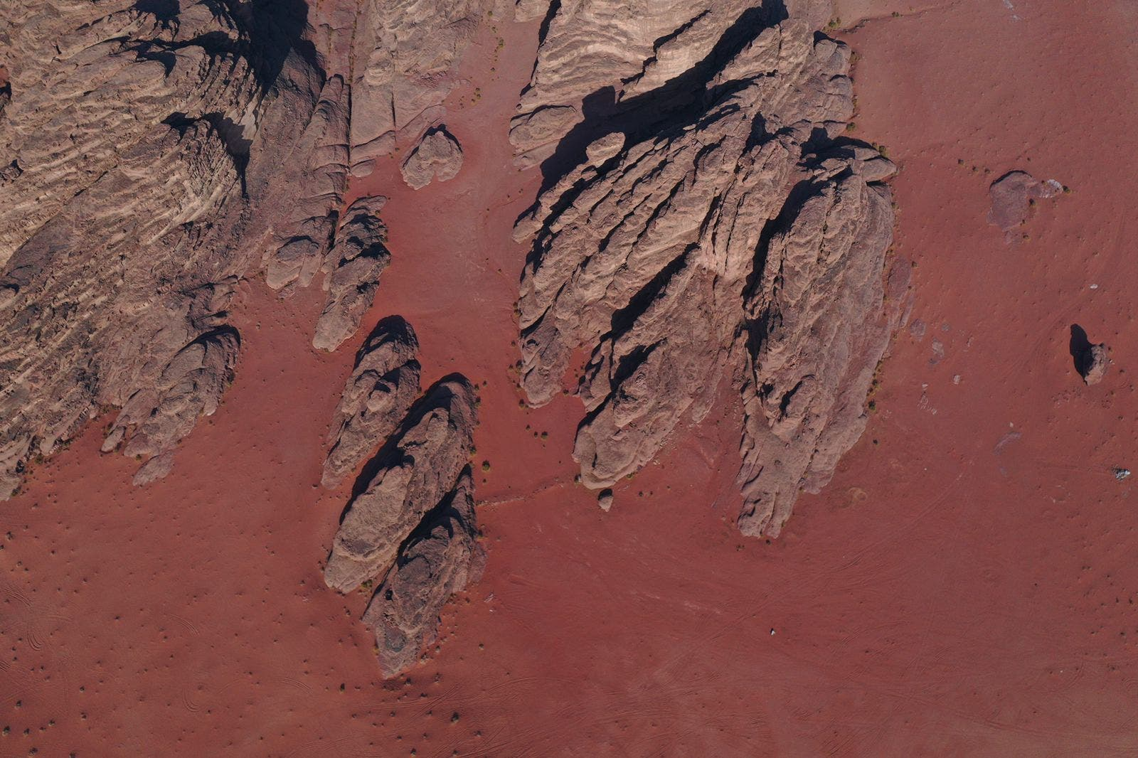 Red sand between the mountains of Jeddah