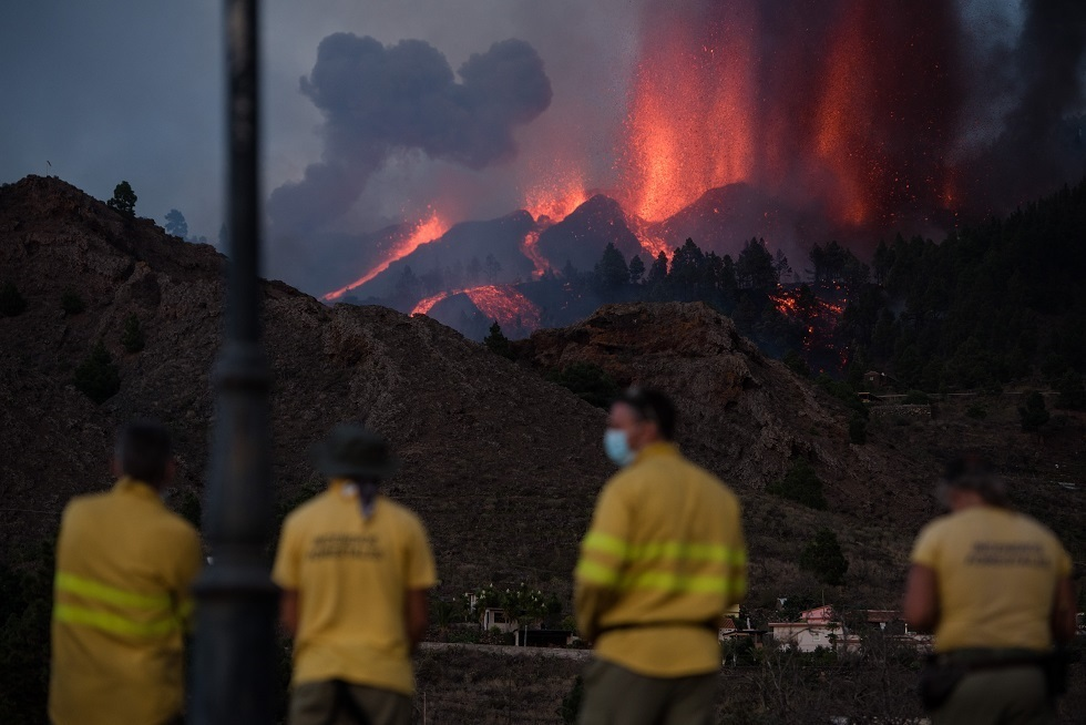 5,000 people evacuated after volcano erupts in Spain's Canary Islands