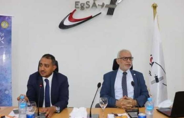 Pictures .. Engineer John Talaat is hosted by the Egyptian Space Agency