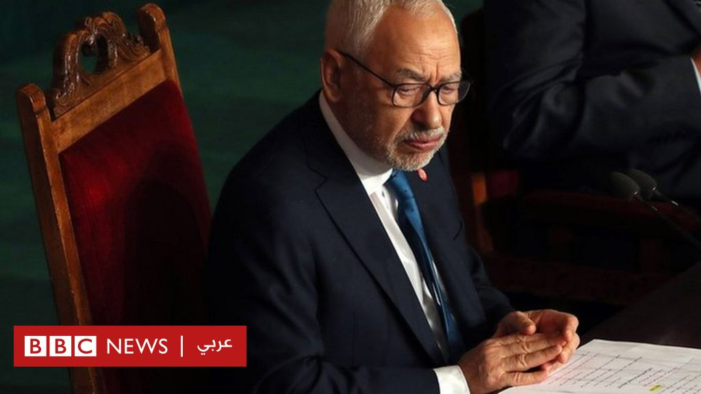 """The crisis in Tunisia: Rached Ghannouchi, leader of the Ennahda Party and Speaker of Parliament, calls for a """"peaceful struggle"""" to confront the actions of President Kais Saied"""