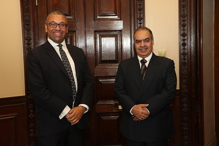 Ambassador of the Kingdom of Bahrain in London meets with the Minister of Foreign Affairs of the Middle East and North Africa at the British Foreign and Commonwealth Office
