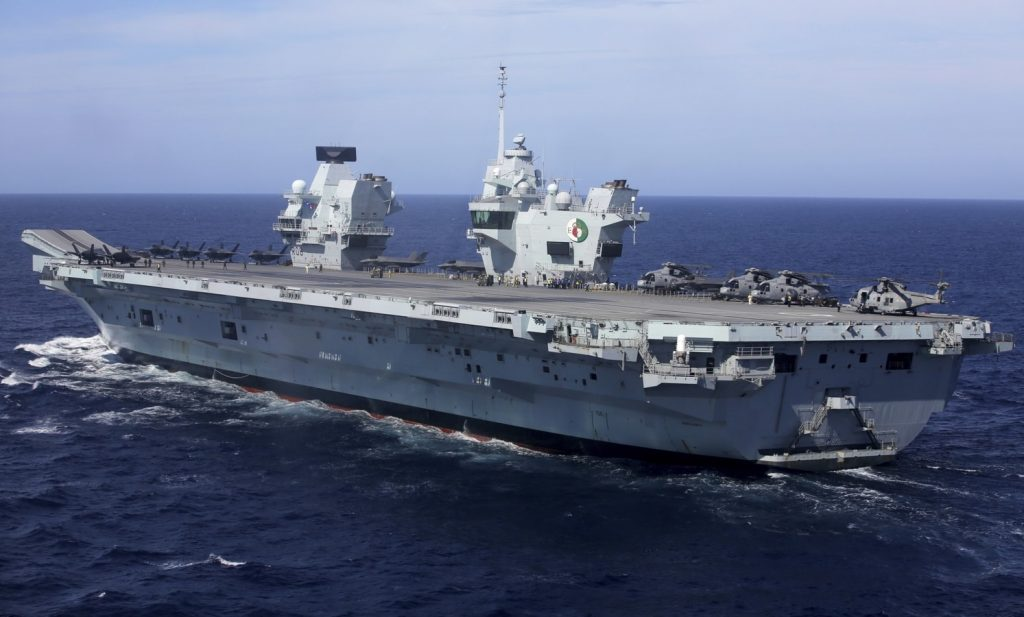 Britain's largest aircraft carrier arrives in Japan to conduct exercises to counter Chinese influence in the Senkaku Islands