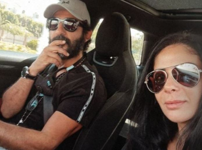 Determined for breakfast.. Ahmed Helmy with Mona Zaki in their latest appearance together