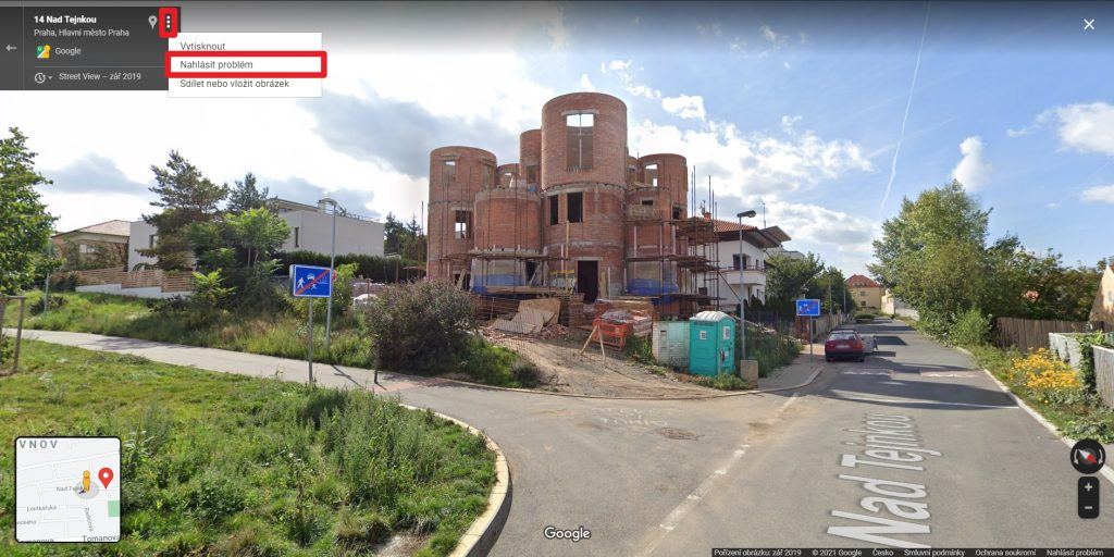 How to blur the house so that your neighbors can't sneak up on you.  This is possible in Google Maps and on Mapy.cz - Živě.cz